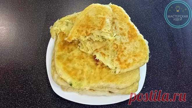Мука, масло, вода и картошка: слоеные пироги на сковородке. Не сложно, очень вкусно, сытно и недорого получается | Мастерская идей | Пульс Mail.ru Лепешки из вытяжного теста