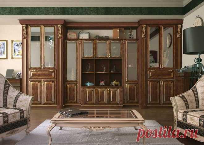 Стенка в гостиную из массива натурального дерева купить по цене 65 000 руб за п/м. в Москве— интернет магазин chudo-magazin.ru