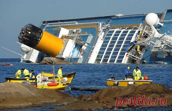 Крушение круизного лайнера Costa Concordia | ФОТО НОВОСТИ