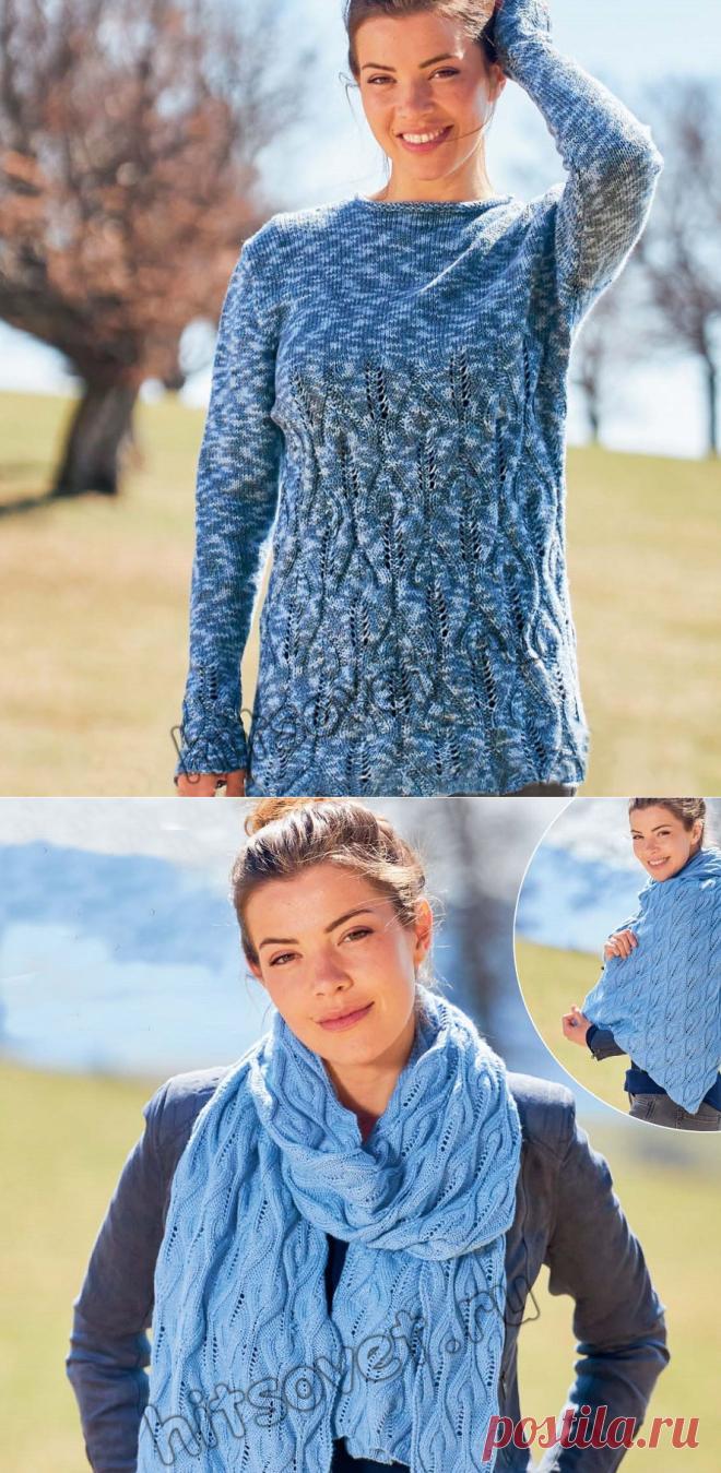 Пуловер реглан и стола спицами - Хитсовет