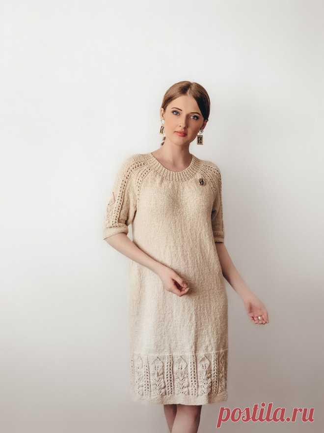 Элегантное платье из хлопка на лето. Описание вязания мастер-класс | Like Babulya | Яндекс Дзен