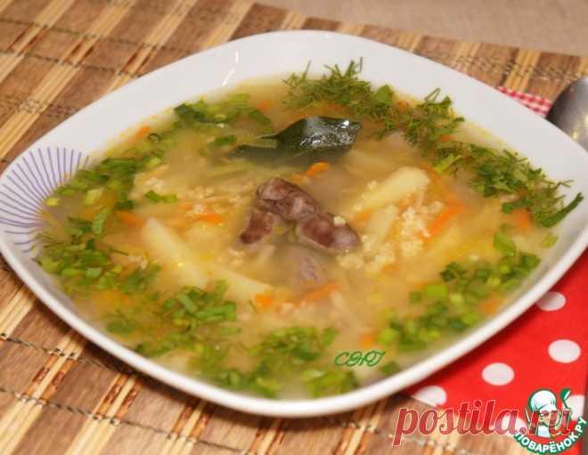 Суп с куриными потрошками – кулинарный рецепт