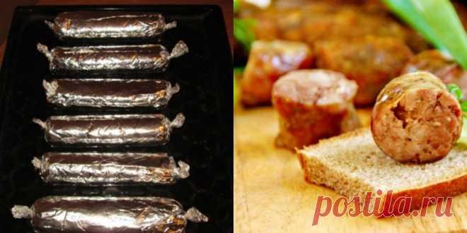 Домашние колбаски без кишок из свинины в фольге! Для тех, кто не любит возиться. — Копилочка полезных советов