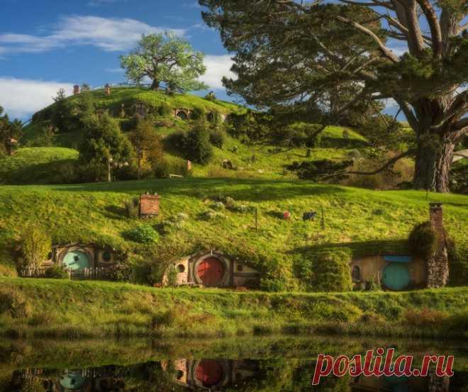 Сказочная деревня Хоббитон (Новая Зеландия)