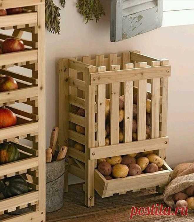 Удобные системы хранения овощей и фруктов — DIYIdeas
