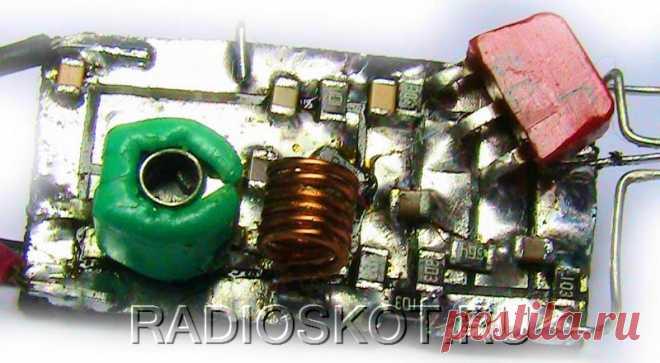 Жучок на двух транзисторах Приветствую, радиолюбители-самоделкины!В этой статье речь пойдёт о создании небольшого радиопередатчика-жучка, подобные конструкции являются довольно интересными для сборки, об этом говорит, как минимум, обилие разношёрстных схем в интернете. Не обязательно иметь цель кого-то подслушать - жучок