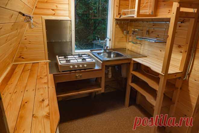 Кухня в садовом домике в условиях ограниченного пространства. | Электромозг | Яндекс Дзен