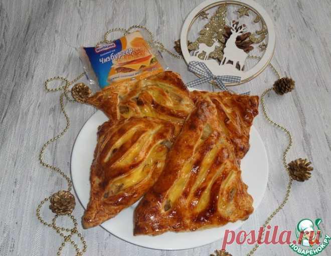 Пирожки с луком, курицей и сыром – кулинарный рецепт