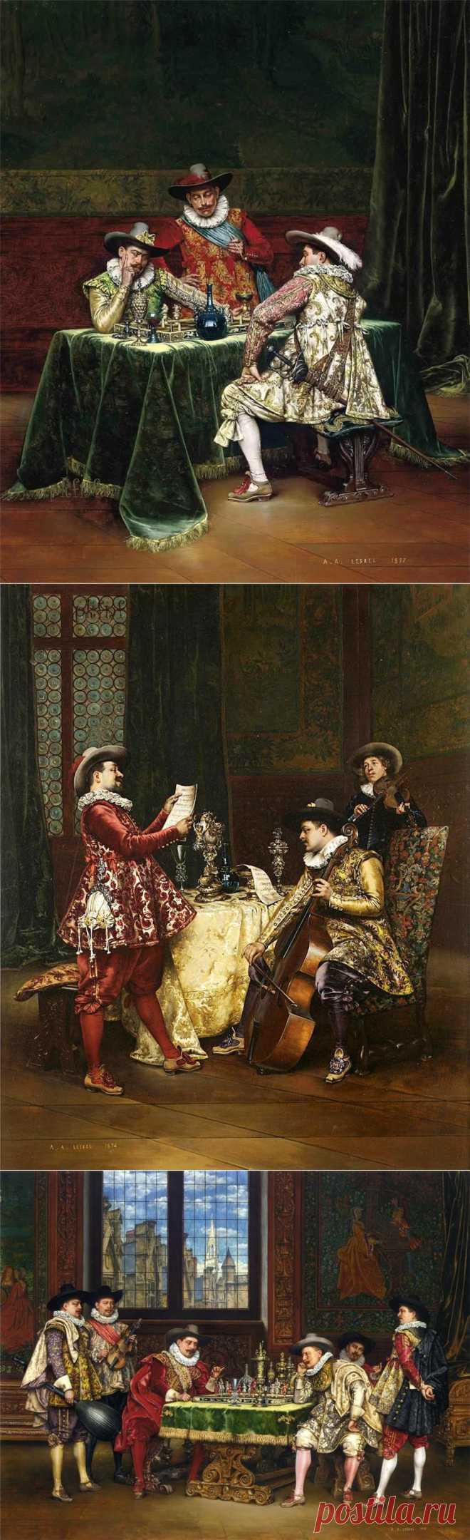Красавцы мужчины...Adolphe Alexandre Lesrel..
