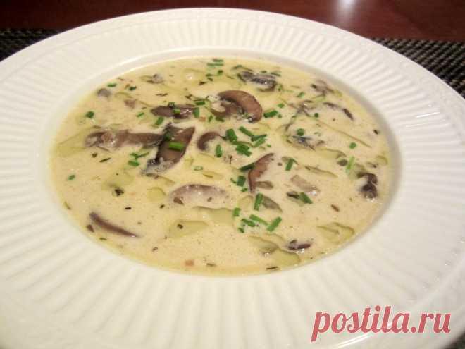 La sopa de leche con las setas