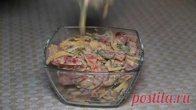 Вкусный сытный салат Обжора