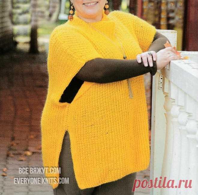 Модели plus-size для солидных дам спицами и крючком.   Все вяжут.соm/Everyone knits.com   Яндекс Дзен