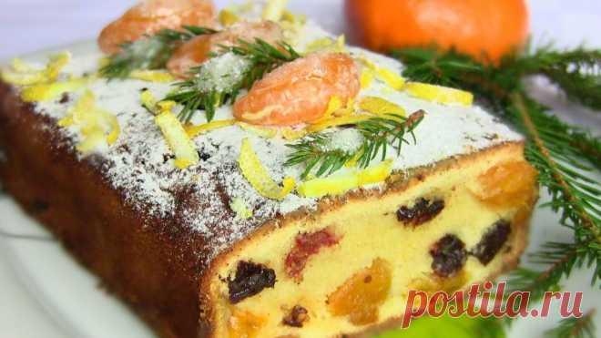 Рождественский кекс с сухофруктами и мандаринами Рождественский кекс с сухофруктами похож на традиционный рождественский кекс, который готовят в Германии. Попробуйте и убедитесь, насколько он вкусный!