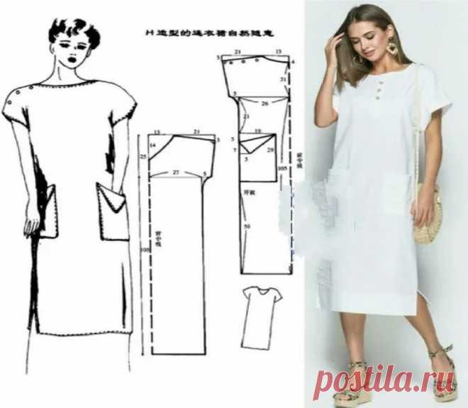 БЕРИ И ШЕЙ: Делюсь самыми практичными и простыми выкройками пляжного платья | Швейный омут | Яндекс Дзен