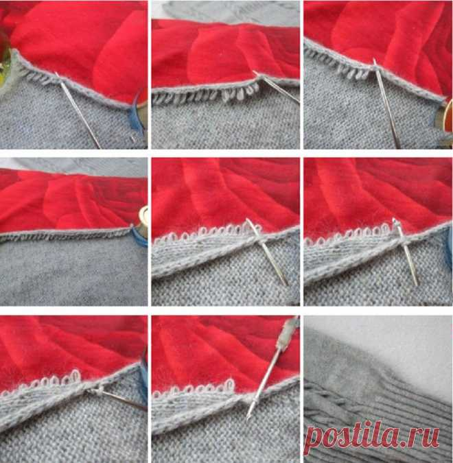 Как сшивать вязаные детали