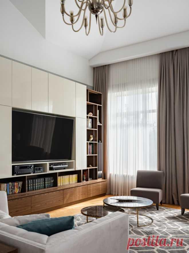 До и после: Преображение гостиной в загородном доме   Houzz Россия