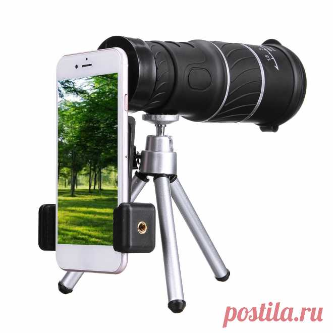 40x60 hd monocular telescope outdoor camping hunting telescope monocular with tripod  mobile phone clip Sale