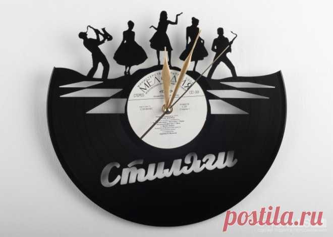 Часы из виниловой пластинки «Стиляги» купить подарок в ArtSkills: фото, цена, отзывы