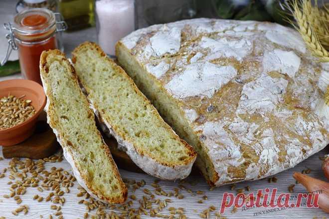 Домашний луковый хлеб: никто не верит, что я его пеку сама (хрустящая корочка и воздушная серединка). А аромат невероятный!