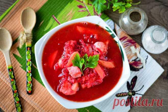 Борщ в сковороде жареный: рецепт с фото пошагово