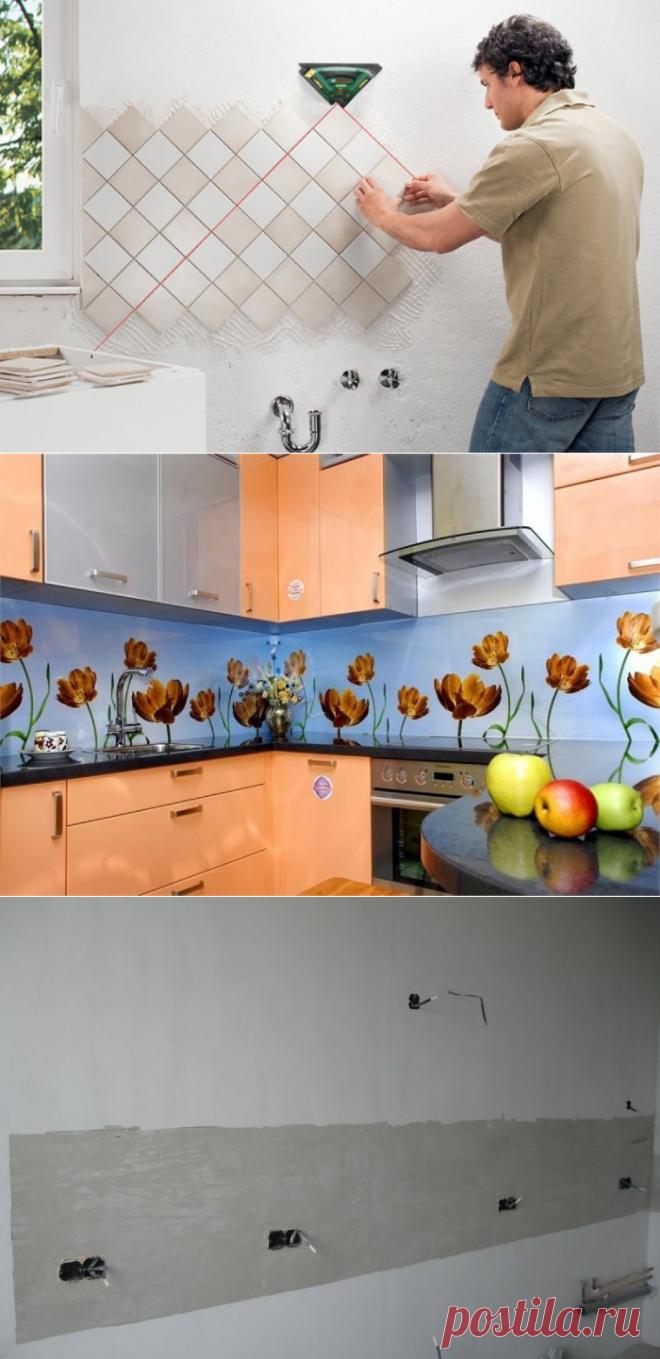Как выложить фартук на кухне правильно: укладка плитки своими руками
