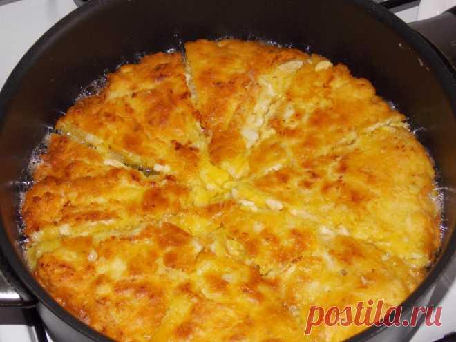 Ленивый пирог с курицей, на сковороде/Сайт с пошаговыми рецептами с фото для тех кто любит готовить