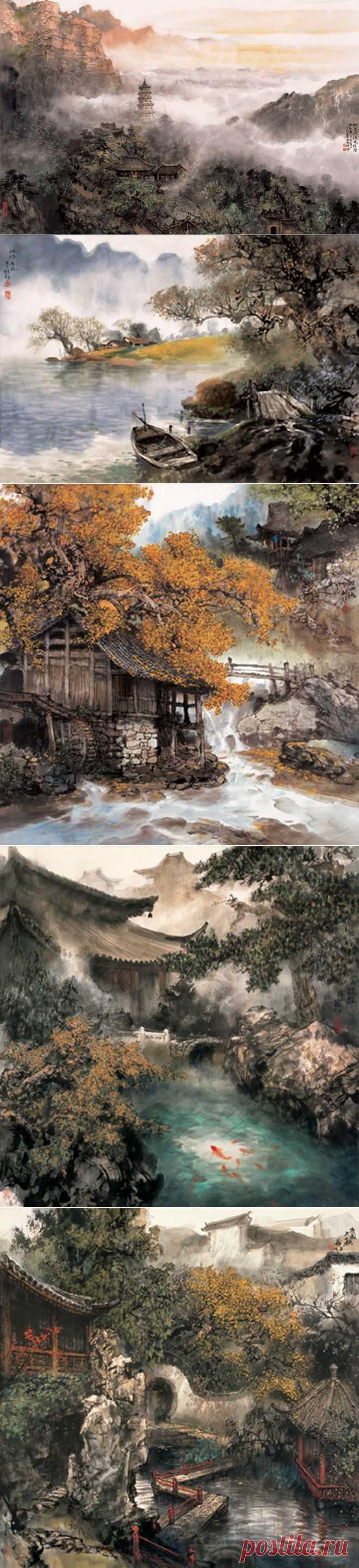 Немного - Китайская живопись - художник Zhao Wu Chao