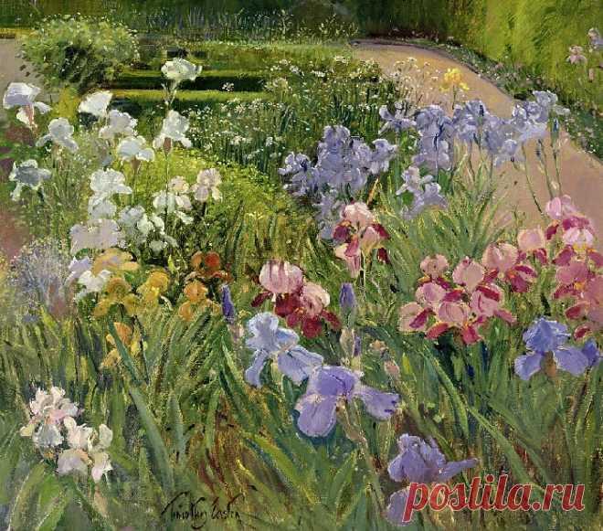 Цветочные пейзажи, которые дарят летнее настроение: Английский художник Тимоти Истон