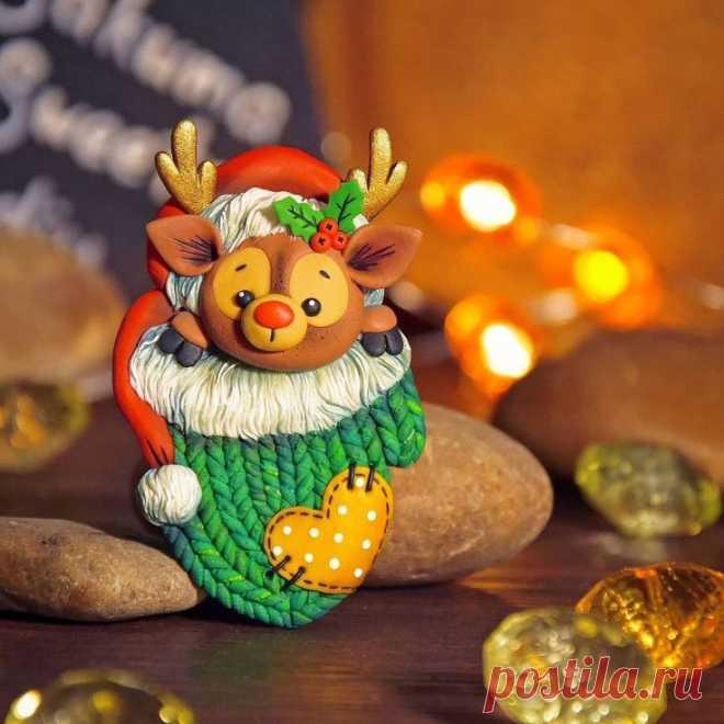 Полимерная глина и Новый год | 48 фото | Polymer clay craft