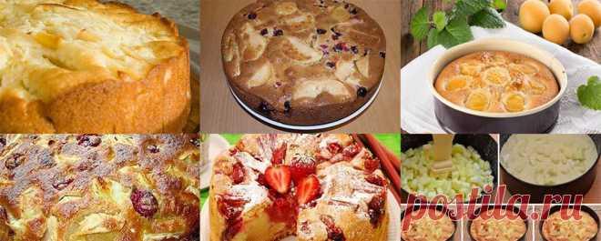 Шесть рецептов шарлотки с ягодами и фруктами Выбирайте фруктово-ягодный рецепт.