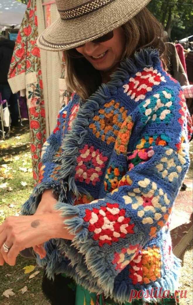 Вдохновляемся и вяжем: бабушкин квадрат (33 фото) | Anna Kuznetsova Knitting | Яндекс Дзен