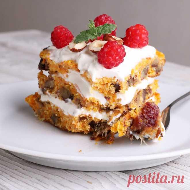 Морковный торт на сковороде!🥕   kiwihealthy   Яндекс Дзен