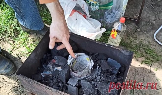 Теперь угли в мангале разжигаю по совету старого шашлычника, быстро и без жидкости для розжига | Все для дома и рыбалки | Яндекс Дзен