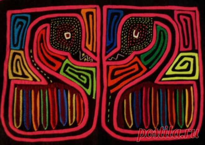 Kuna Indian Hand-Stitched Suoer Swan Mola II-Panama 18042621L | eBay
