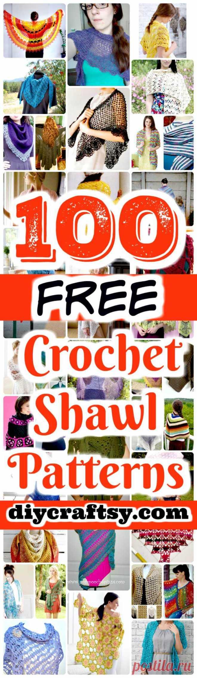 100 Free Crochet Shawl Patterns - Free Crochet Patterns ⋆ DIY Crafts