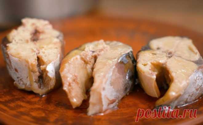 Скумбрия на плите, как консервы - Лучший сайт кулинарии