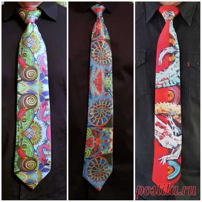 Позитивные галстуки от Лейлы Кравцовой доступны для приобретения и заказа