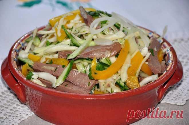 """Красивый и полезный салат """"Охотничий"""" – украсит любое застолье!"""