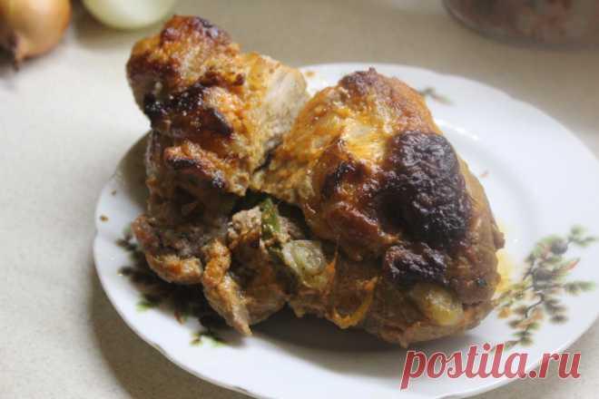 Свинина запеченная в томатно-сметанном соусе Свинина запеченная в томатно-сметанном соусе - пошаговый кулинарный рецепт приготовления с фото, шаг за шагом.