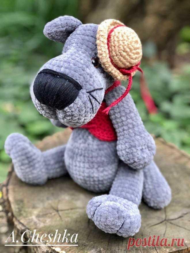 Вязаный волк из плюшевой пряжи | Hi Amigurumi