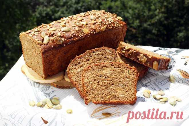 Шведский ночной хлеб без замеса с кунжутом и семечками - проще простого! | HandMade39.Ru | Яндекс Дзен