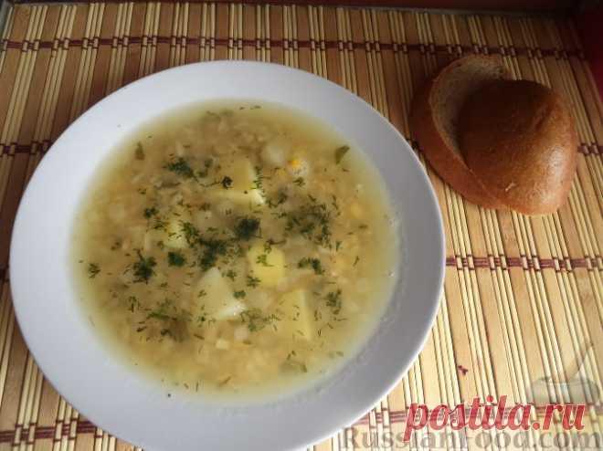 Рецепт: Суп из гороха с рисом