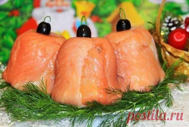 Начинаю подборку новогодних рецептов. Шикарные колокольчики из красной рыбки | Отчаянная Домохозяйка | Яндекс Дзен