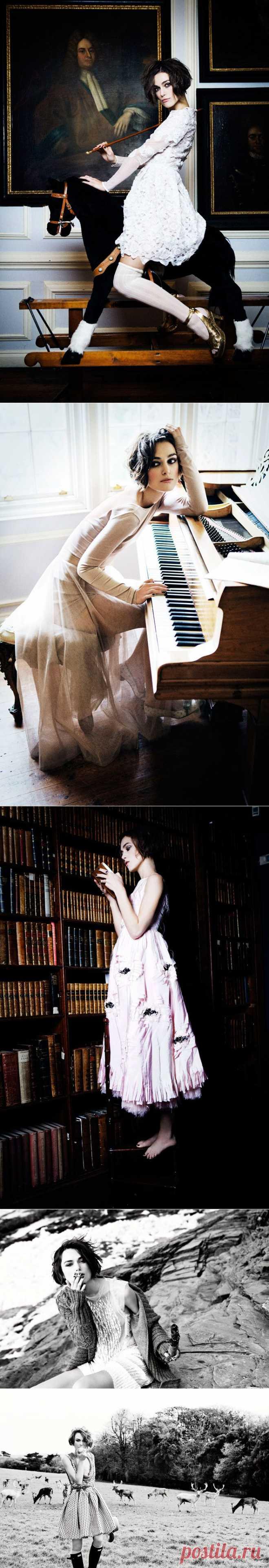 Кира Найтли(Keira Knightley) в фотосессии Эллен фон Унверт(Ellen von Unwerth) для журнала Vogue Italia (январь 2011).