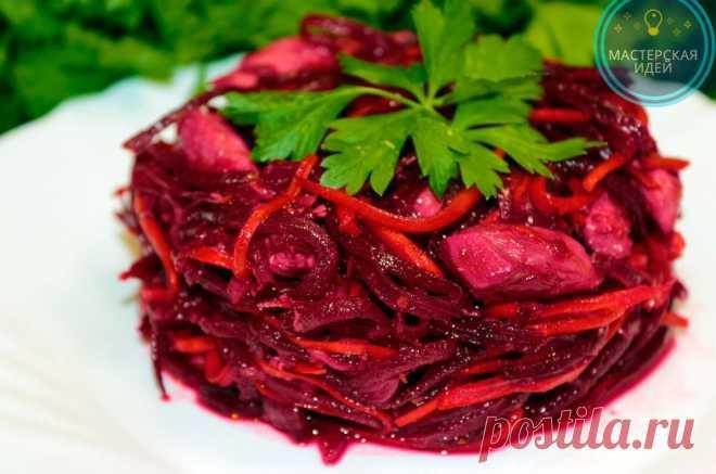 Попался новый рецепт салата из сырой свёклы и моркови с курицей: такого я точно не ожидала (ну очень вкусно и полезно получается | Мастерская идей | Яндекс Дзен