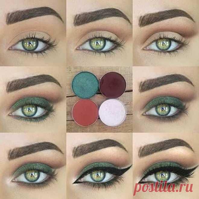 Макияж для зелёных глаз. Смотри ещё больше интересного в группе