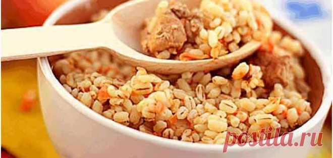Перловая каша с мясом рецепт приготовления - Готовим рецепты