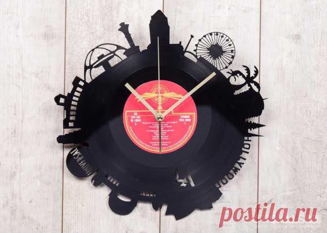 Часы из виниловой пластинки «Лос-Анджелес» купить подарок в ArtSkills: фото, цена, отзывы