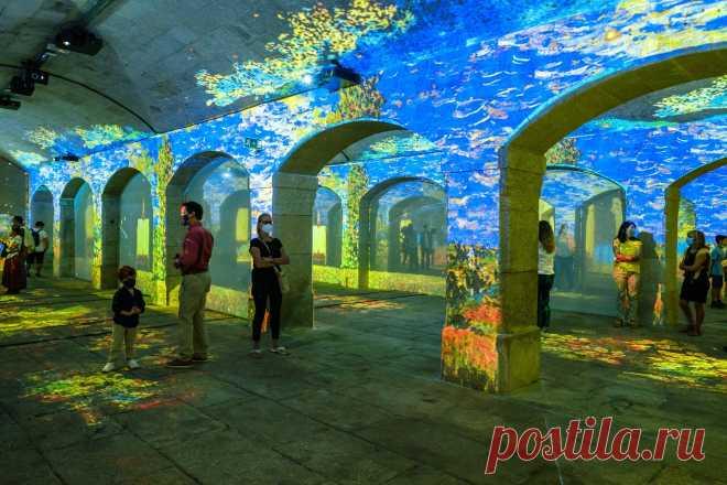 Monet e Klimt no Reservatório da Mãe d'Água das Amoreiras num espetáculo imersivo único - Lisboa Secreta
