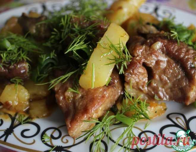 Жаркое с картофелем в казане - кулинарный рецепт